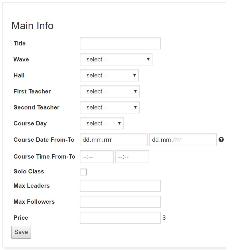Easy School Registration - easy school registration docs add course main info - Adding Courses